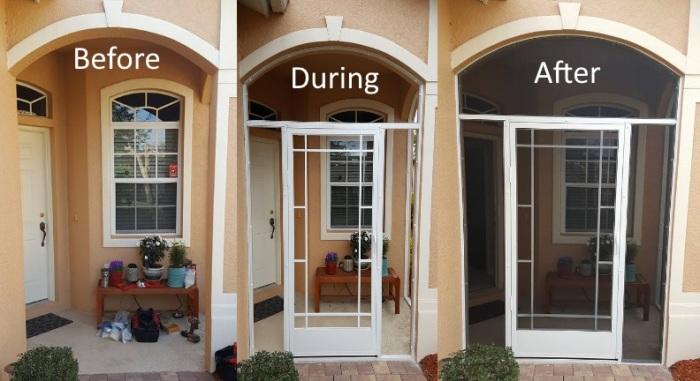 Screen Repair Front Entryway