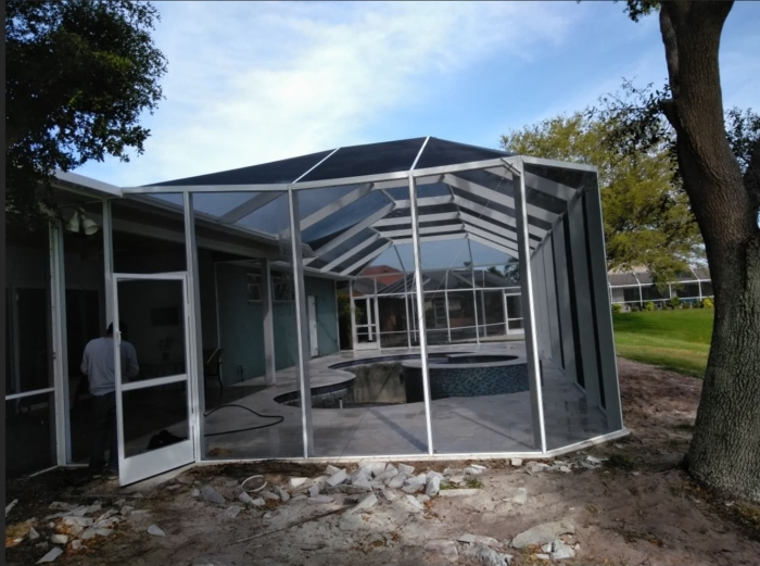 Custom Pool Screen Enclosure 7